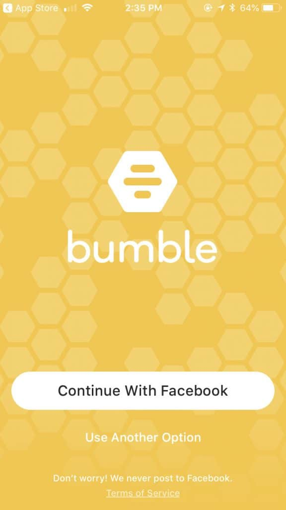 bumble online dating app - homepage