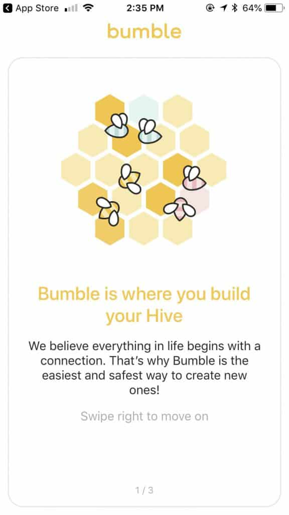 bumble online dating app - hive