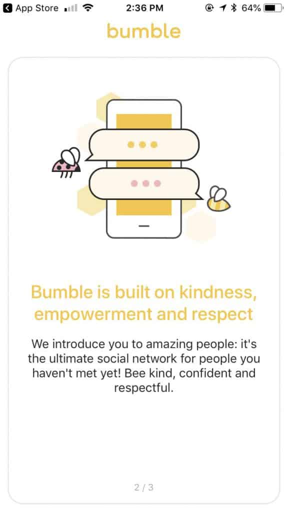 bumble online dating app - communication