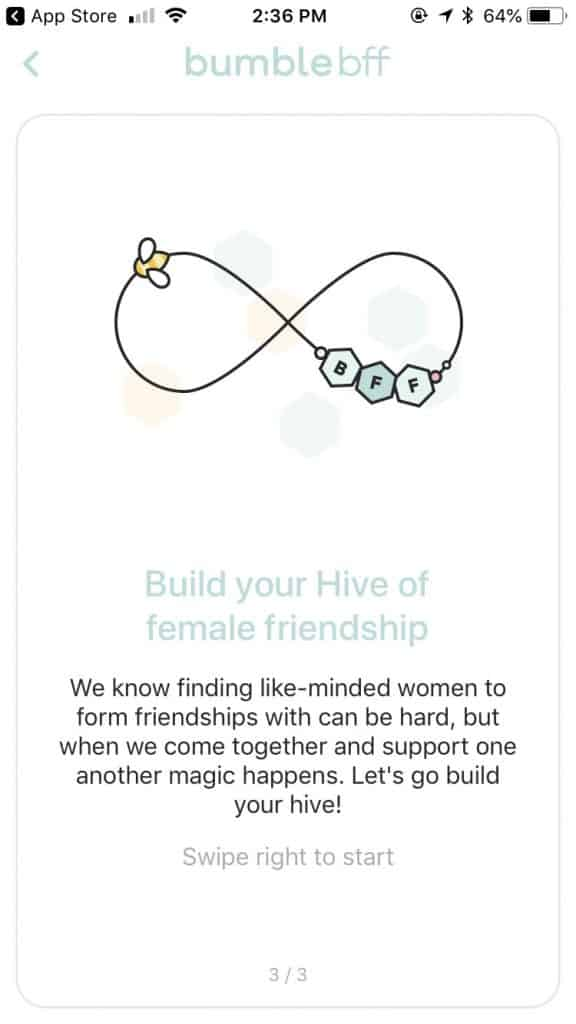 bumble online dating app - friendship