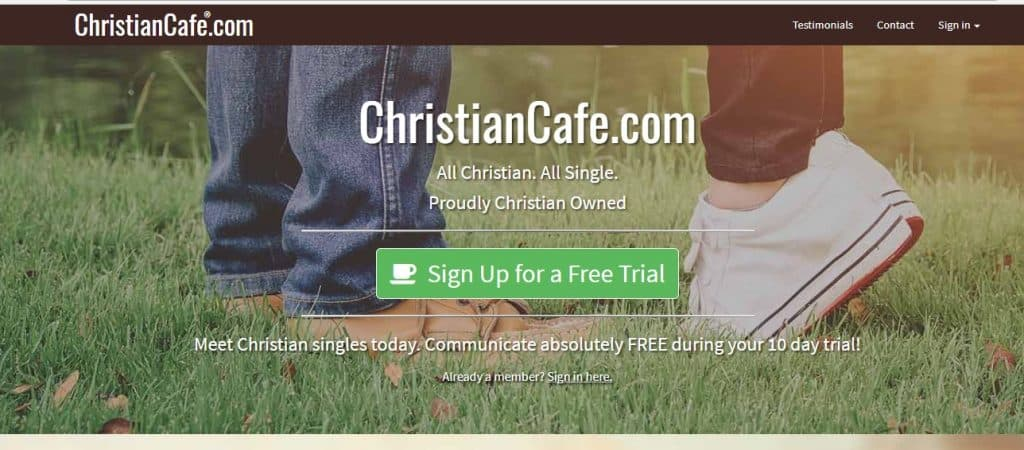 Christian Cafe - online dating homepage