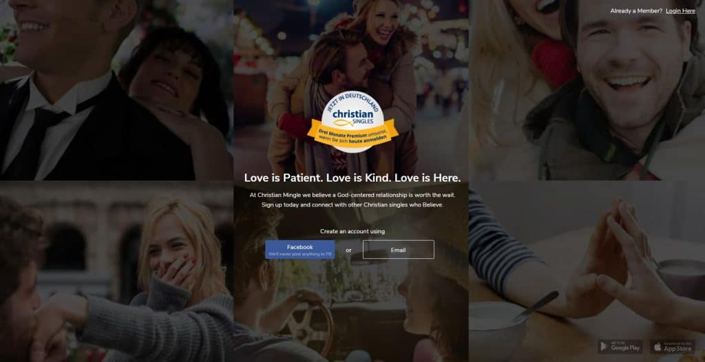 Christian Mingle - homepage