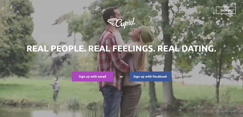 Cupid Review - dating site cover photo