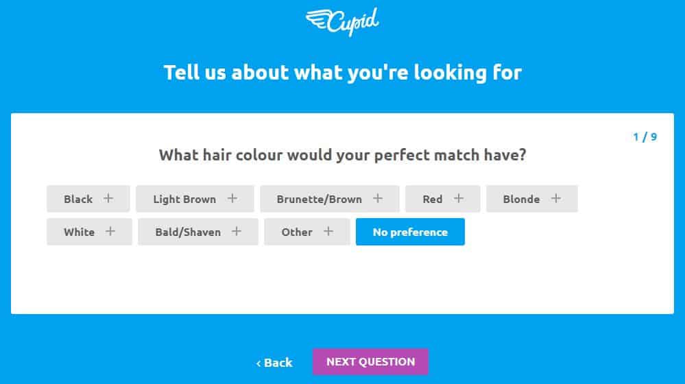 Cupid Review - dating site - signing up