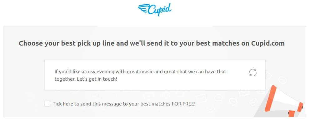 Cupid.com best pickup lines