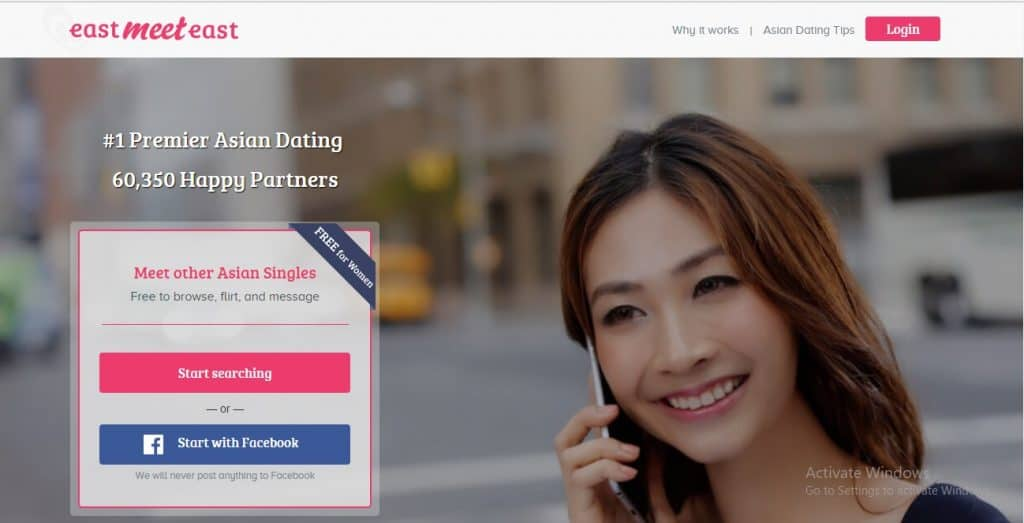East Meet East - online dating - homepage