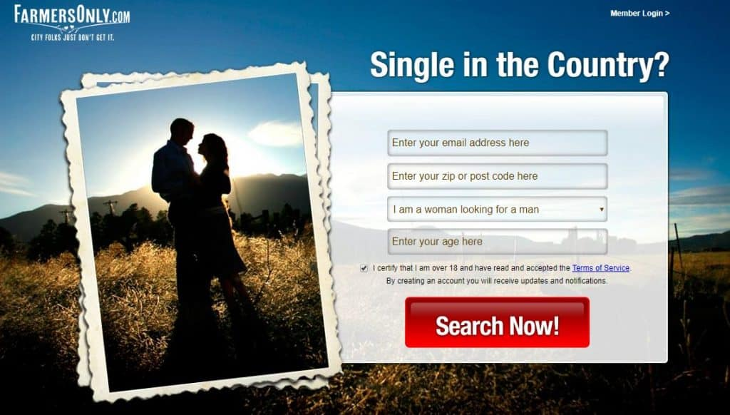 Farmers Only online dating - homepage