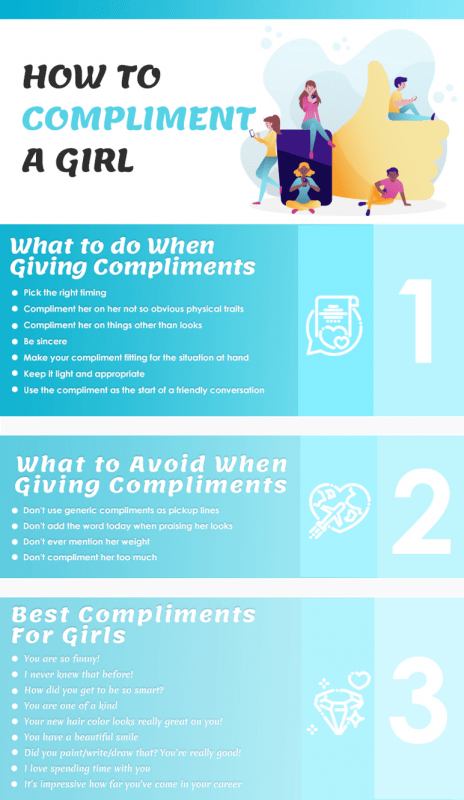 How to Compliment a Girl Infographic