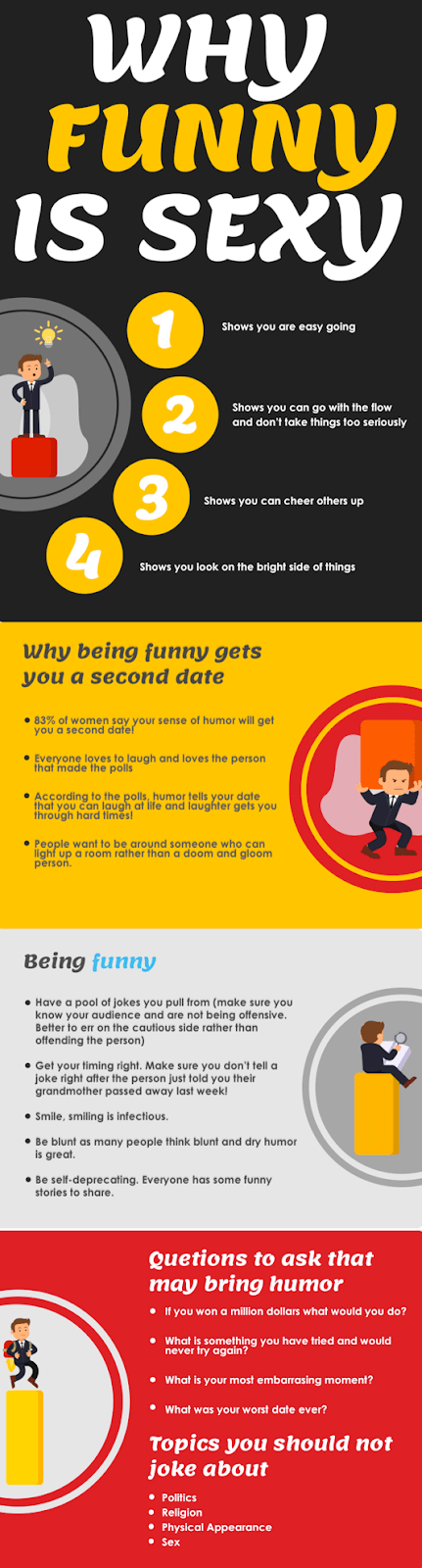 How to Appear Funny infographic