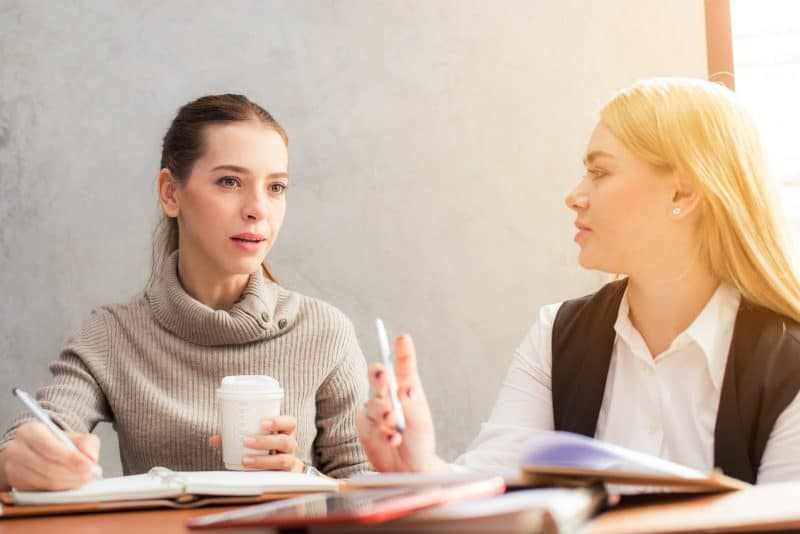 Woman Listening During Meeting
